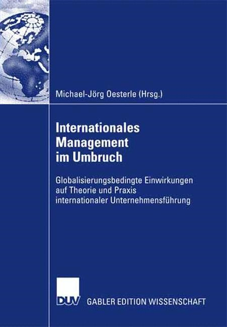 Internationales Management im Umbruch | Oesterle, 2007 | Buch (Cover)