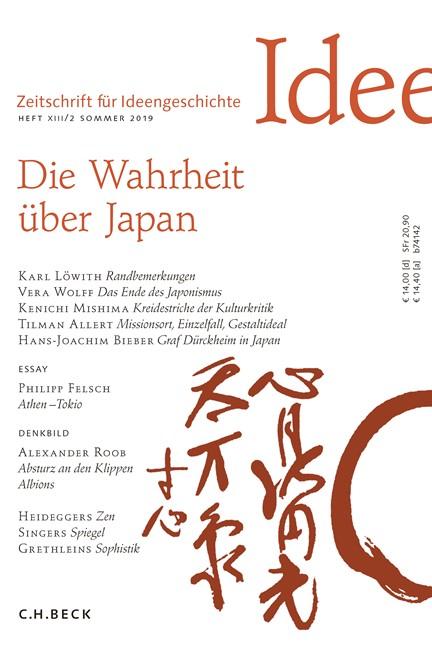 Cover: , Zeitschrift für Ideengeschichte Heft XIII/2 Sommer 2019