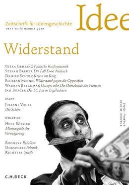 Abbildung von Zeitschrift für Ideengeschichte Heft XIII/3 Herbst 2019 | 2019 | Widerstand