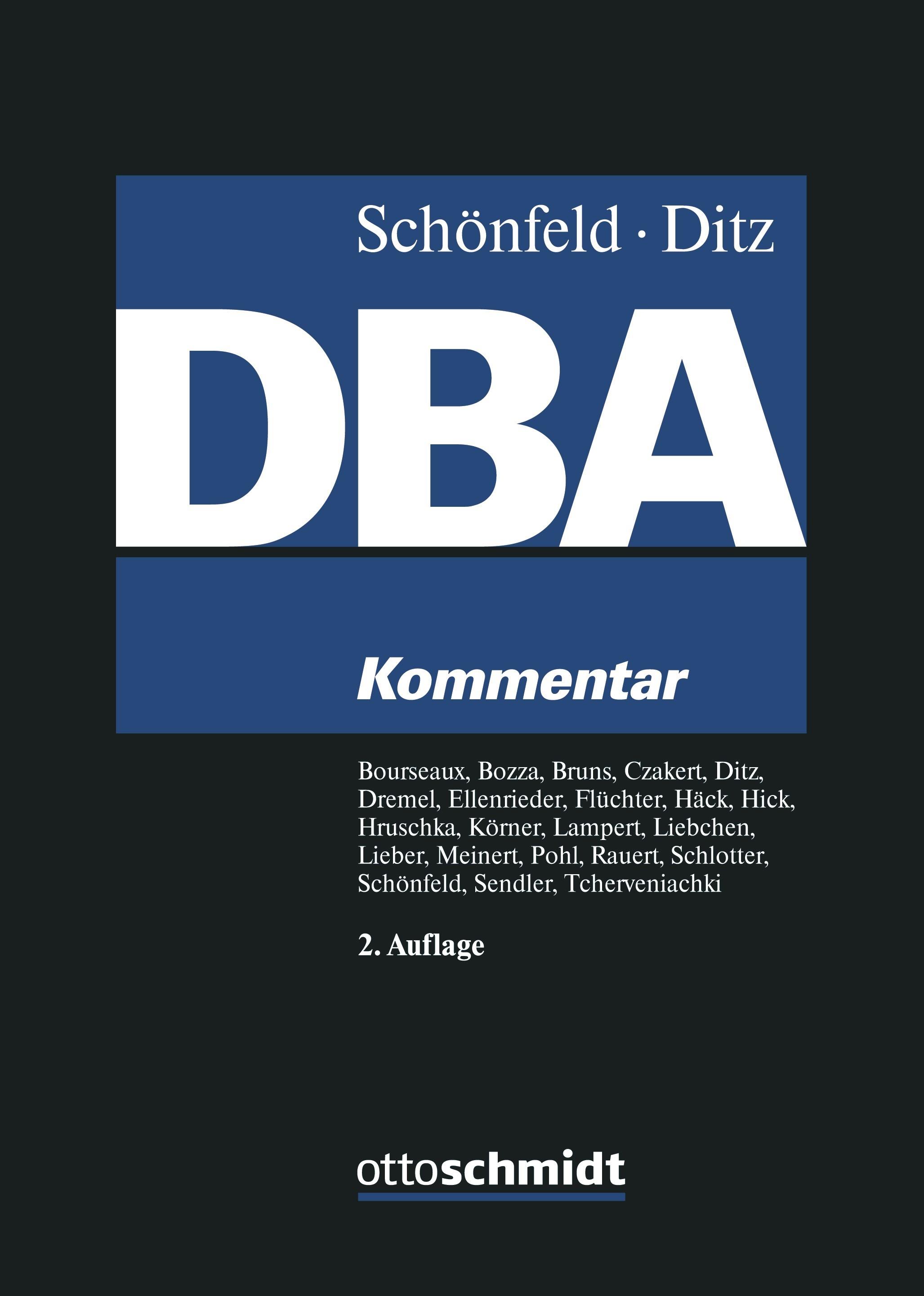 Abbildung von Schönfeld / Ditz (Hrsg.) | Doppelbesteuerungsabkommen (DBA) - Kommentar | 2., neu bearbeitete Auflage | 2019