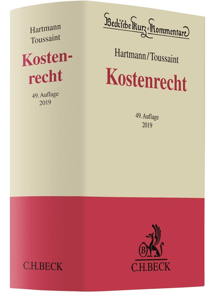 Abbildung von Hartmann/Toussaint | Kostenrecht: KostG | 49. Auflage | 2019
