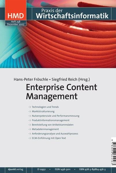 Abbildung von Fröschle / Reich   Enterprise Content Management   2007