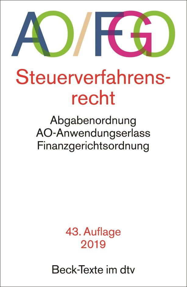 Abbildung von Abgabenordnung: AO/FGO   43. Auflage   2019