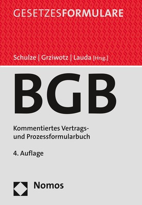 Bürgerliches Gesetzbuch | Schulze / Grziwotz / Lauda (Hrsg.) | 4. Auflage, 2019 (Cover)