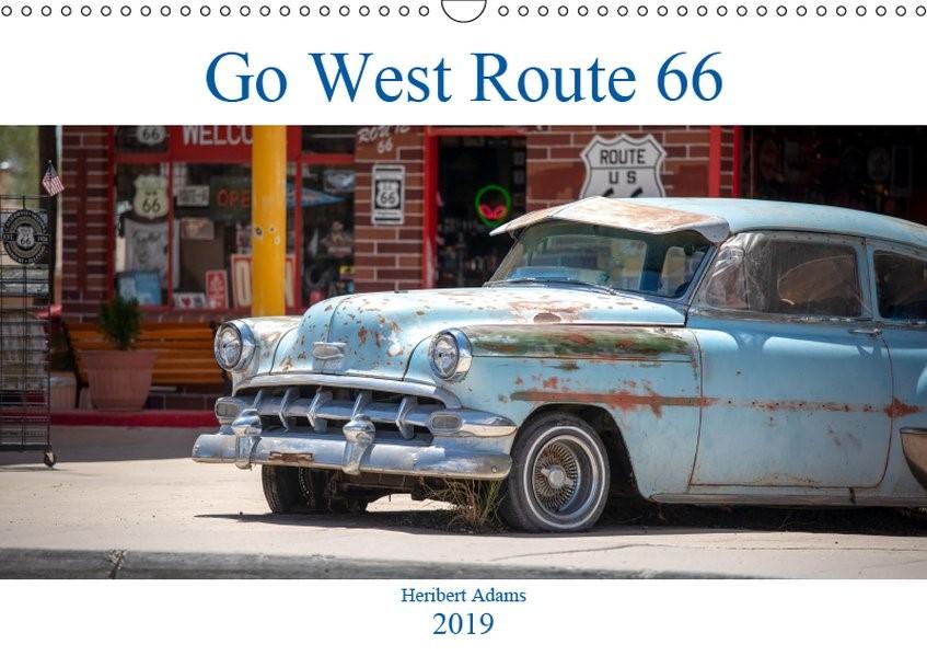 Abbildung von Adams Www. Foto-You. De   Go west  Route 66 (Wandkalender 2019 DIN A3 quer)   1. Edition 2018   2018