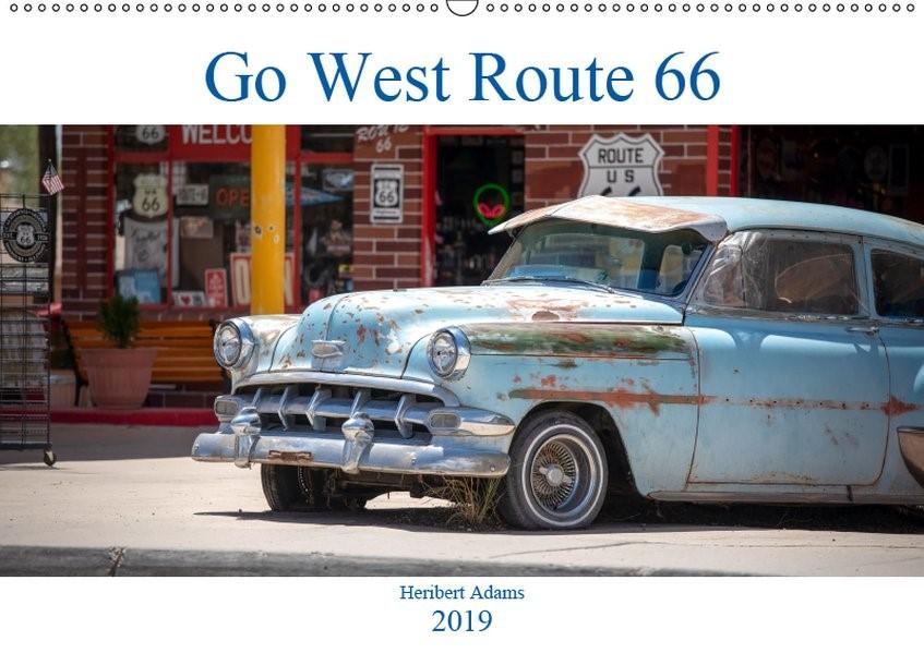 Abbildung von Adams Www. Foto-You. De   Go west  Route 66 (Wandkalender 2019 DIN A2 quer)   1. Edition 2018   2018