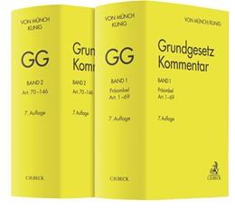 Abbildung von von Münch / Kunig | Grundgesetz-Kommentar: GG | 7. Auflage | 2020 | Gesamtwerk in 2 Bänden