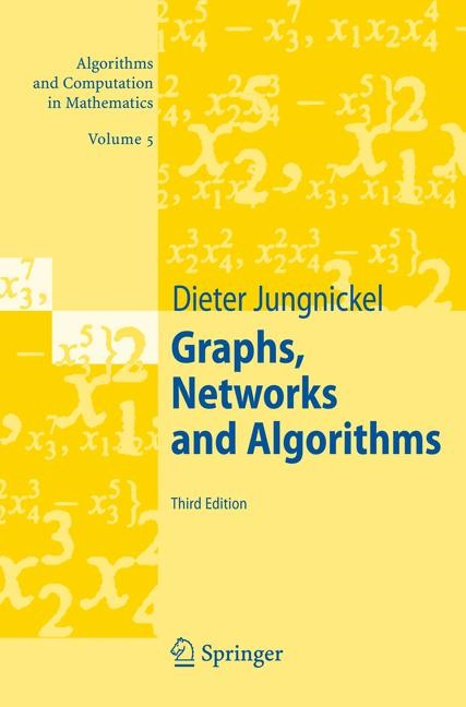 Graphs, Networks and Algorithms | Jungnickel | 3rd ed., 2007 | Buch (Cover)