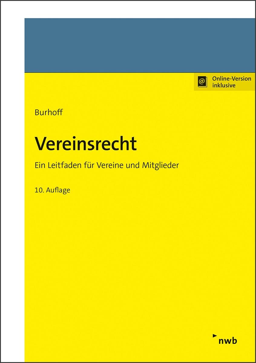 Abbildung von Burhoff | Vereinsrecht | 10. Auflage | 2019