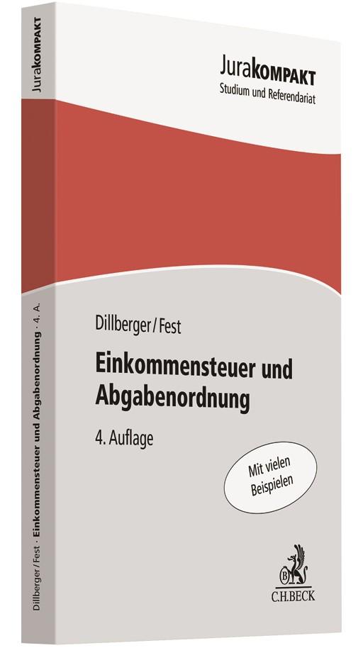 Abbildung von Dillberger / Fest | Einkommensteuer und Abgabenordnung | 4. Auflage | 2019