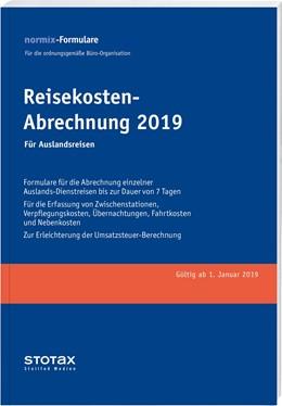 Abbildung von Reisekosten-Abrechnung 2019, Auslandsreisen, Formularblock | 2018