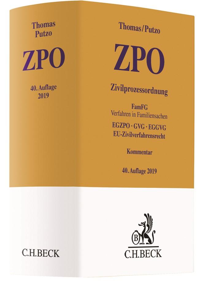 Zivilprozessordnung: ZPO | Thomas / Putzo | 40. Auflage, 2019 | Buch (Cover)