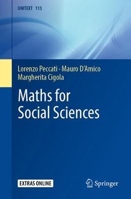 Abbildung von Peccati / D'Amico | Maths for Social Sciences | 1. Auflage | 2019 | beck-shop.de