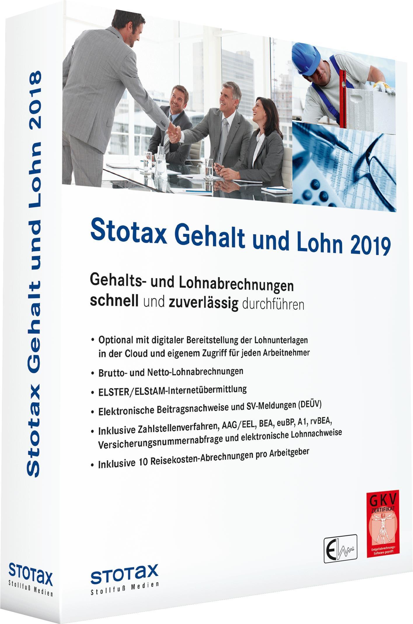 Stotax Gehalt und Lohn 2019, 2018 (Cover)