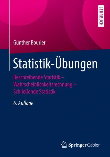 Statistik-Übungen | Bourier | 6. Aufl. 2018, 2018 | Buch (Cover)