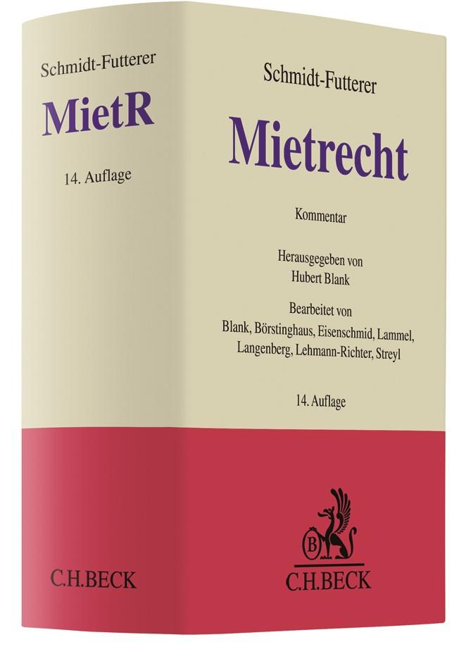 Mietrecht: MietR | Schmidt-Futterer | 14. Auflage, 2019 | Buch (Cover)