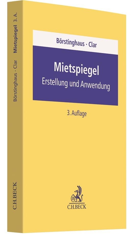 Mietspiegel | Börstinghaus / Clar | 3. Auflage, 2019 | Buch (Cover)