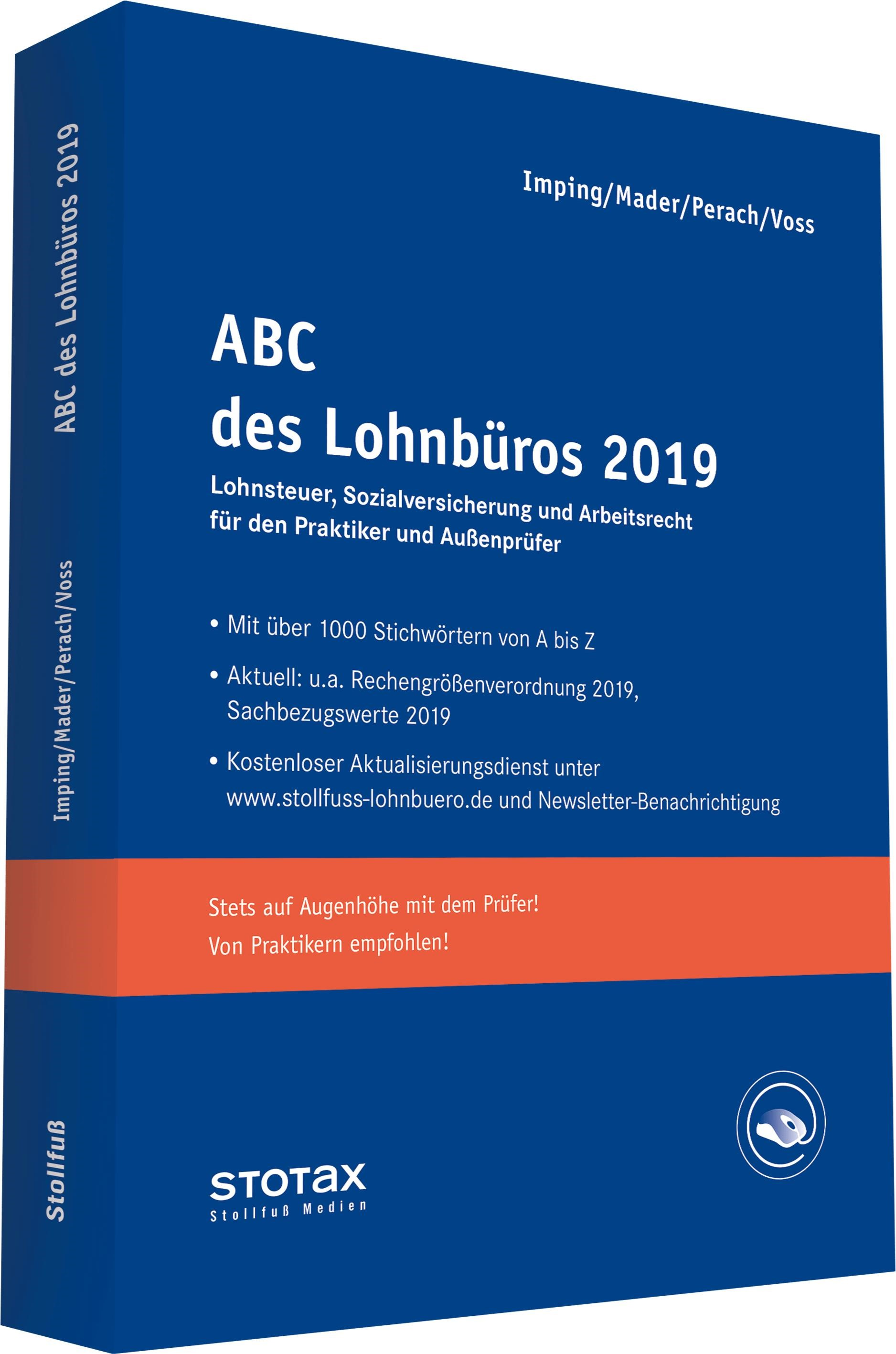 ABC des Lohnbüros 2019 | Mader / Perach / Voss / Imping, 2019 (Cover)