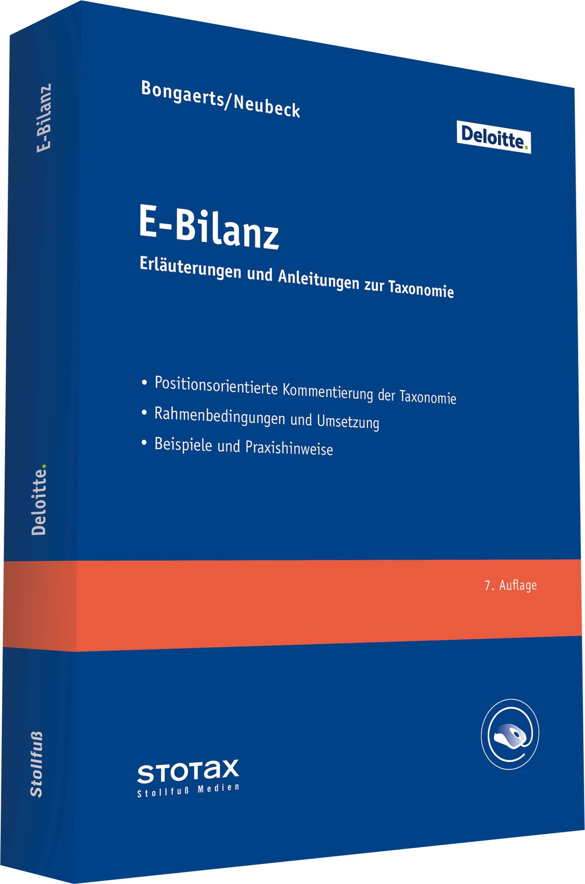 E-Bilanz | Bongaerts / Neubeck | 7. Auflage, 2019 | Buch (Cover)