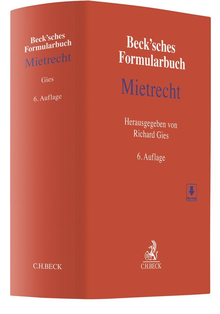 Beck'sches Formularbuch Mietrecht | 6. Auflage, 2020 | Buch (Cover)