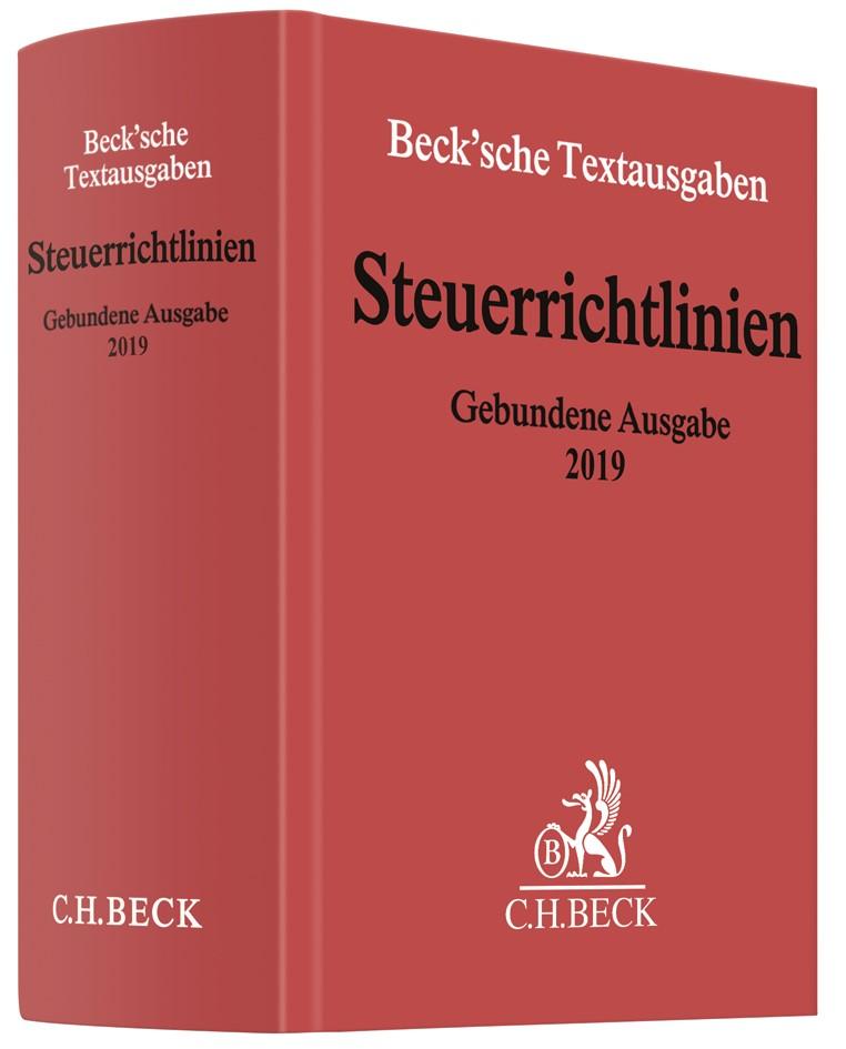 Steuerrichtlinien Gebundene Ausgabe 2019, 2019 | Buch (Cover)