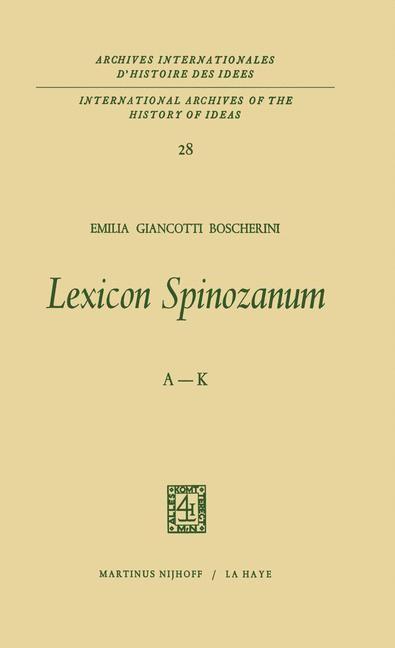 Lexicon Spinozanum | Boscherini, 1987 | Buch (Cover)