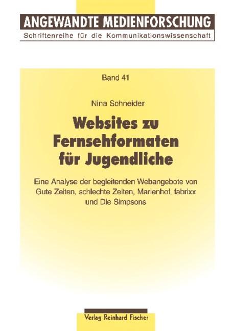 Websites zu Fernsehformaten für Jugendliche | Schneider, 2009 (Cover)