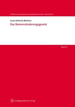 Abbildung von Mertens | Das Namensänderungsgesetz | 2018 | Band 24