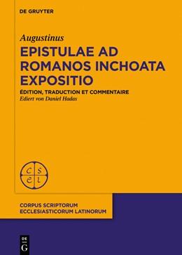 Abbildung von d'Hippone / Hadas   Commencement de commentaire sur l'épître aux Romains   2019   Introduction, édition critique...   [Extra Seriem]