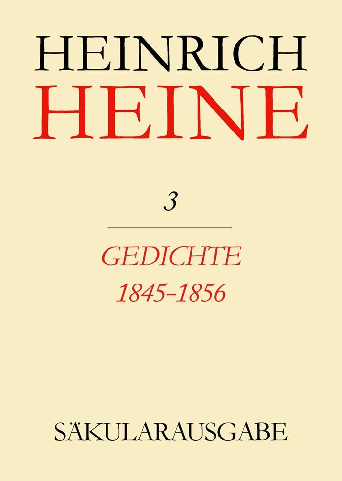 Gedichte 1845-1856 | Brandt / Francke, 1986 (Cover)
