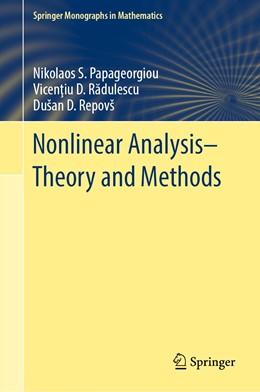 Abbildung von Papageorgiou / Radulescu / Repovš | Nonlinear Analysis - Theory and Methods | 1st ed. 2019 | 2019