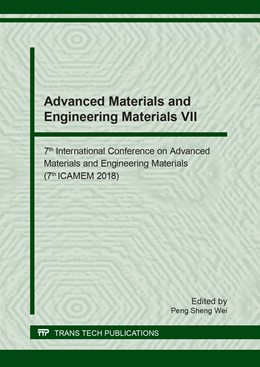 Abbildung von Wei | Advanced Materials and Engineering Materials VII | 2018 | 7th International Conference o... | Volume 777