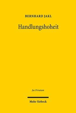 Abbildung von Jakl | Handlungshoheit | 1. Auflage | 2019 | 236 | beck-shop.de