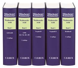 Abbildung von Münchener Kommentar zum Wettbewerbsrecht | 3. Auflage | Gesamtwerk in 5 Bänden