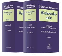 Abbildung von Münchener Kommentar zum Wettbewerbsrecht: Band 1: Europäisches Wettbewerbsrecht / Band 2: Deutsches Wettbewerbsrecht Gesetz gegen Wettbewerbsbeschränkungen (GWB), §§ 1-96, 185, 186 | 3. Auflage | 2020 | beck-shop.de