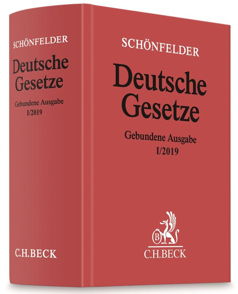 Deutsche Gesetze Gebundene Ausgabe I/2019   Schönfelder, 2019   Buch (Cover)