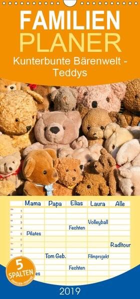 Abbildung von Bölts | Kunterbunte Bärenwelt - Teddys - Familienplaner hoch (Wandkalender 2019 , 21 cm x 45 cm, hoch) | 1. Edition 2018 | 2018