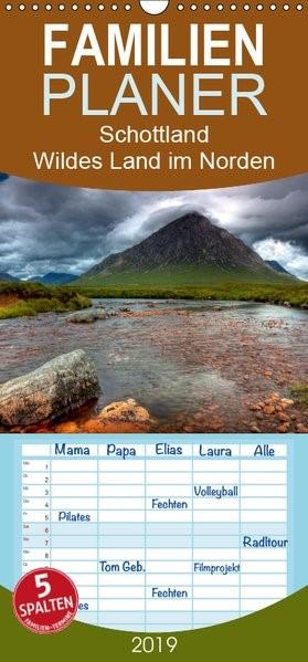 Schottland - Wildes Land im Norden - Familienplaner hoch (Wandkalender 2019 , 21 cm x 45 cm, hoch) | Kalender365. Com | 1. Edition 2018, 2018 (Cover)