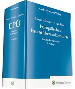 Abbildung von Singer / Stauder / Luginbühl | Europäisches Patentübereinkommen: EPÜ | 8. Auflage | 2019