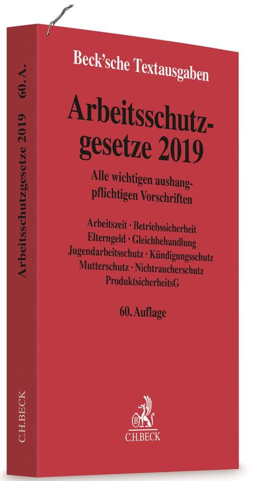 Arbeitsschutzgesetze 2019 | 60. Auflage, 2019 | Buch (Cover)