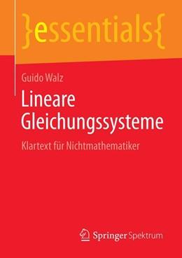 Abbildung von Walz | Lineare Gleichungssysteme | 1. Auflage | 2018 | beck-shop.de
