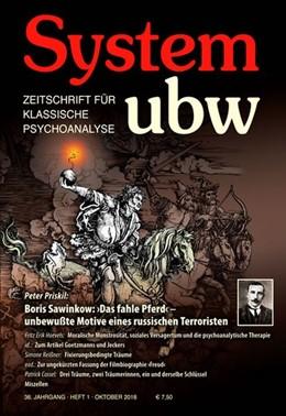 Abbildung von Hoevels / Priskil   Boris Sawinkow: >Das fahle Pferd< - unbewußte Motive eines russischen Terroristen   2018   System ubw 1/2018