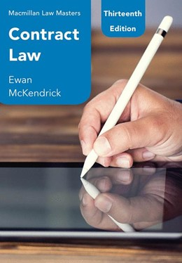 Abbildung von McKendrick   Contract Law   13rd ed. 2019   2019