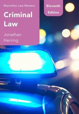 Abbildung von Herring | Criminal Law | 11st ed. 2019 | 2019