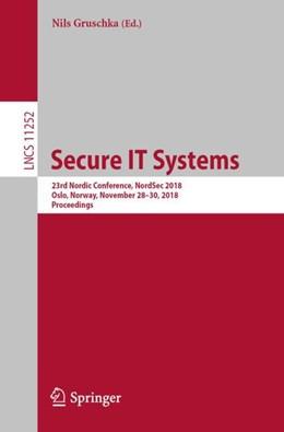 Abbildung von Gruschka   Secure IT Systems   1. Auflage   2018   beck-shop.de