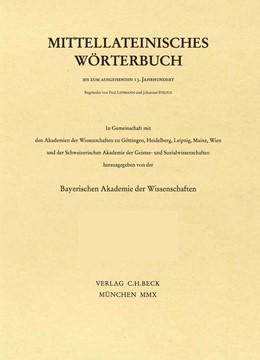 Abbildung von Mittellateinisches Wörterbuch 49. Lieferung (instupefactibilis - intra) | 2019