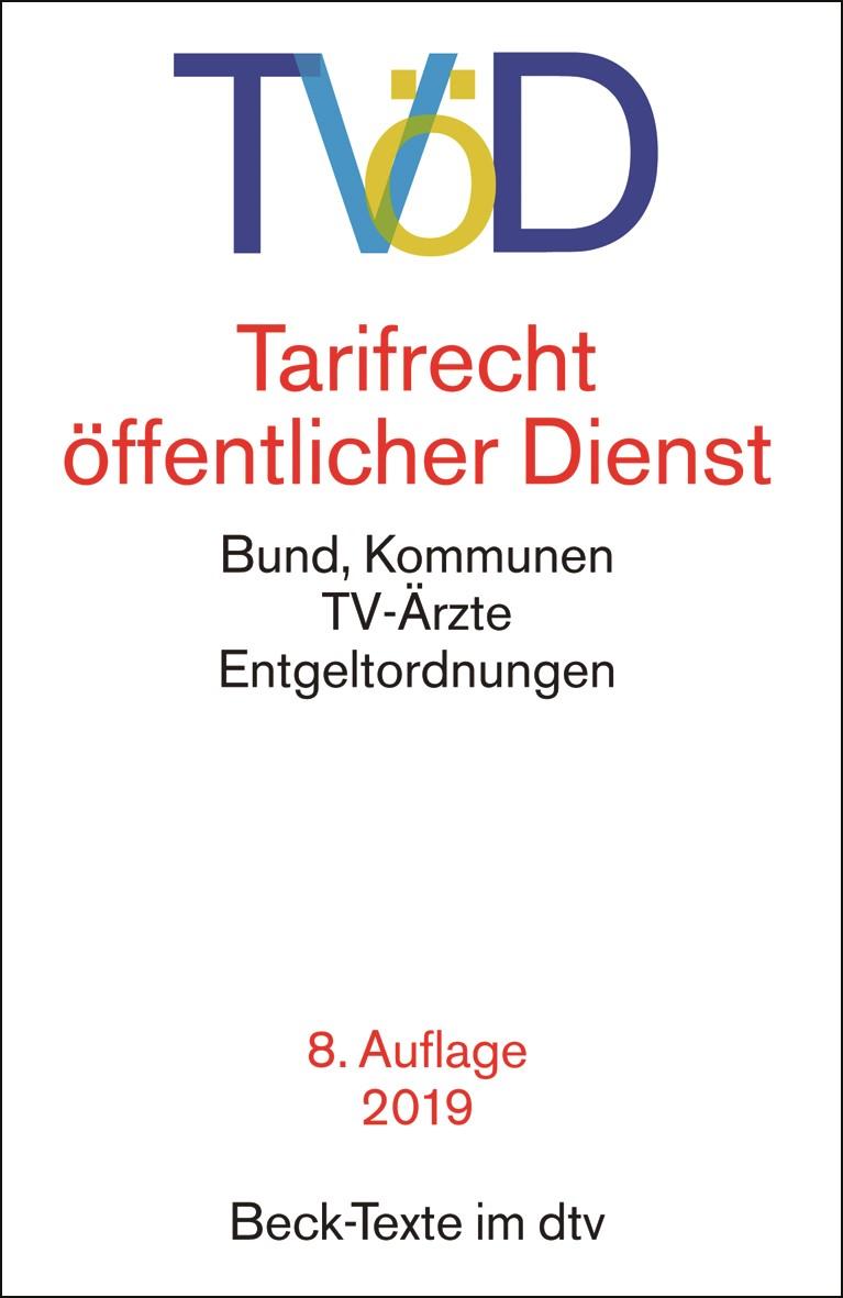TVöD - Tarifrecht öffentlicher Dienst   8. Auflage, 2019   Buch (Cover)