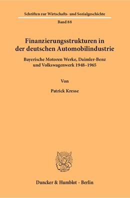 Abbildung von Kresse   Finanzierungsstrukturen in der deutschen Automobilindustrie   1. Auflage   2018   88   beck-shop.de
