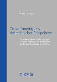 Crowdfunding aus zivilrechtlicher Perspektive   Fritschi, 2019   Buch (Cover)