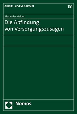 Die Abfindung von Versorgungszusagen | Heider | 1. Auflage, 2018 | Buch (Cover)